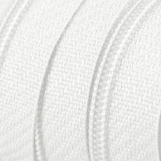 Endlosreißverschluss - 3 mm Laufschiene - weiß