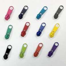 12 Zipper für Endlosreißverschluss - 3 mm Laufschiene
