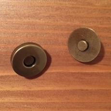5 Magnetknöpfe - bronzefarben