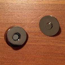 5 Magnetknöpfe - silberfarben
