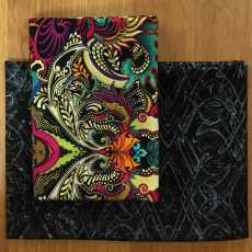 2 Fat Quarter - Dragonette crazy black
