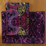 2 Fat Quarter - Dragonette purple black